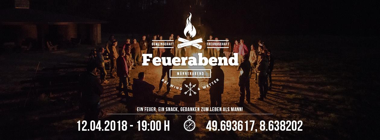 Feuerabend im April 2018 in Bensheim